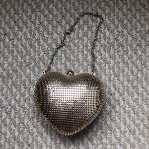Francescas Gold Heart Clutch